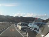 国道の脇道も渋滞してました