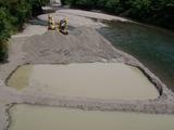 古川橋の下流の工事