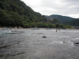 球磨川下りの船