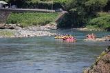球磨川下りのラフティングボート (1)