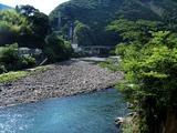 村所発電所の放水口より上流
