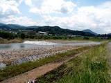 ちょっと水が多い時の三隈川・中学校下