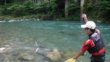 一ッ瀬川の鮎釣り (2)