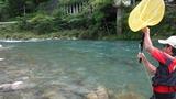 一ッ瀬川の鮎釣り (1)