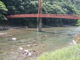 一ツ瀬川の鮎ポイントと自分が釣った村所橋周辺 (2)