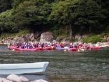球磨川下りのラフティングボート (2)