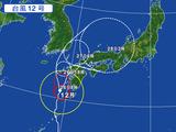 台風12号・気象庁進路予想図
