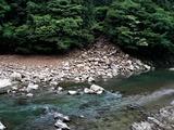 小丸川への土砂崩れ