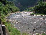 一ツ瀬川の鮎ポイントと自分が釣った村所橋周辺 (1)