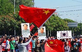 毛沢東の肖像画まで登場した反日デモ[2012/09/16]