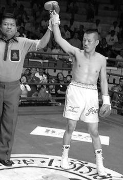 20081026辰吉再起戦2回TKO勝ち