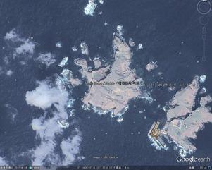 GoogleEarthでは竹島は韓国と表示しやがりやがる
