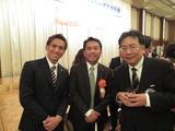 大宮アルディージャのKEIGO選手と、枝野幸男代議士と