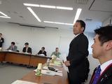 造幣局さいたま支局で挨拶する沢田力・埼玉県議会議員