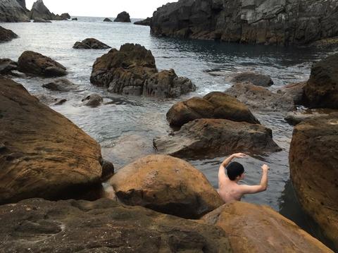 式根島 地鉈温泉(朝) 23