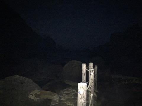 式根島 地鉈温泉(夜) 4