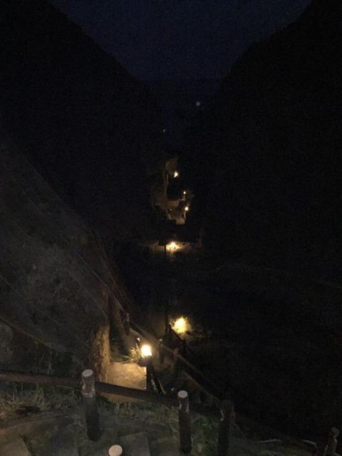 式根島 地鉈温泉(夜) 6