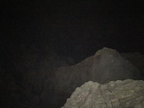 式根島 地鉈温泉(夜) 1