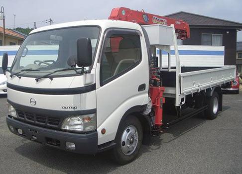 日野自動車トラック ユニック4段クレーン付