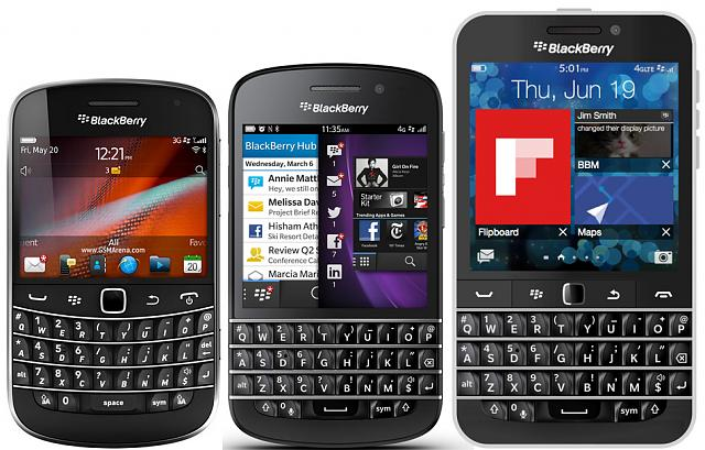 BlackBerry Q10とBlackBerry Bold9900