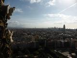 塔の上からはバルセロナの街が一望