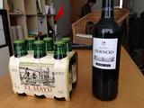 隣のショッピングセンターで買った50円/本のシードラと200円のワイン