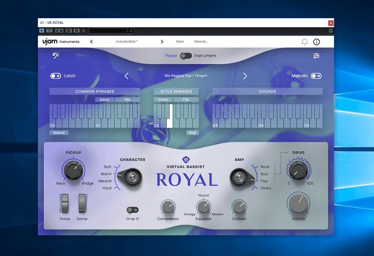 【PR】自動でフレーズを生成するベース音源、UJAM Instruments「VIRTUAL BASSIST ROYAL」レビュー