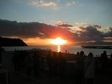 江の島の日の入り