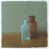 パステル画作品『Old Bottles』