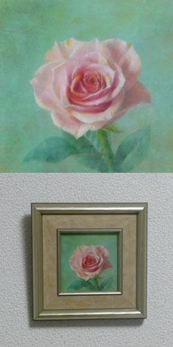 油彩画(ホルベインDUO)作品『一輪の薔薇』