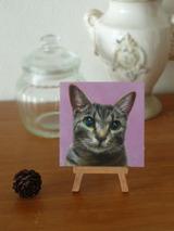 ペットの肖像画『鈴』修正しました