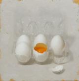 油彩画作品「Eggs」(ホルベインDUO)