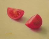 油彩画『赤い誘惑』
