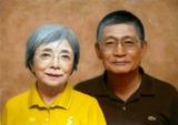 Mさん御夫妻の肖像画