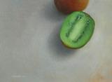 油彩画(ホルベインDUO)作品「~ Kiwis ~ 」