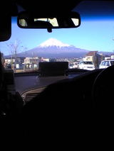車から富士山正面