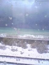 日本海と雪