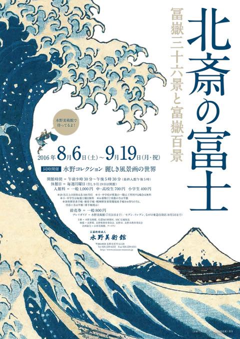 北斎の富士 水野美術館