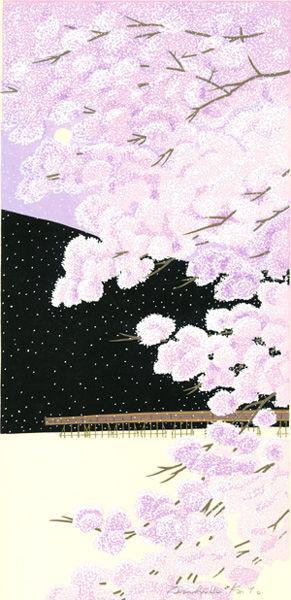 嵐山桜景 元画像