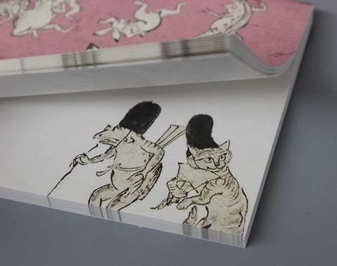 和紙メモ箋鳥獣本紙