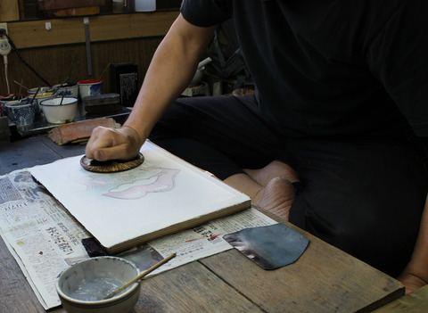 ②雲母摺 摺る のコピー
