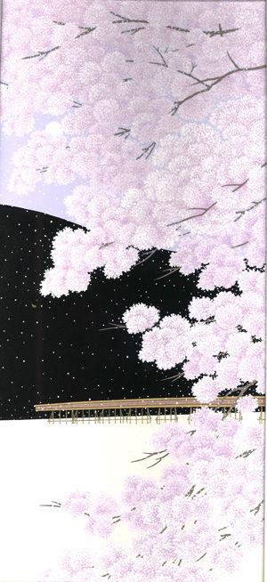嵐山桜景原画