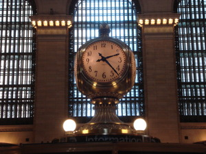 グランドセントラル駅の四面時計