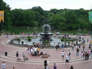 セントラル・パークの噴水