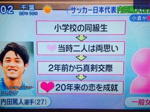 内田篤人(ウッチー)が入籍!2