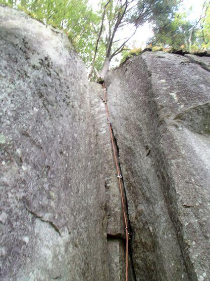 左岩稜2ピッチ