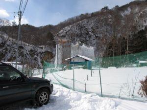 群馬県六合村にあるアイスゲレンデ