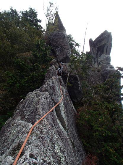 左岩稜上部