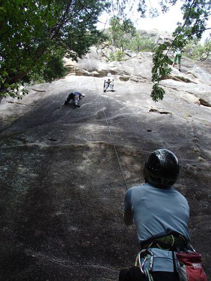小川山 スラブ状岩壁