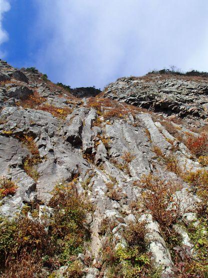 黒伏山 南壁 中央ルンゼ